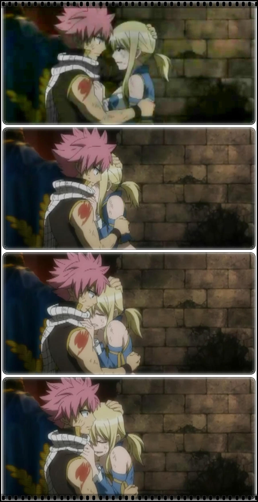 Natsu X Lucy Hugging Scene by Koyuki1401 on DeviantArt