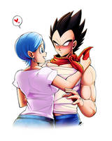 Vegeta and Bulma by Katsumi-Kin