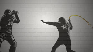 inFAMOUS: Second Son Banksy Stencil by Trevinoss97