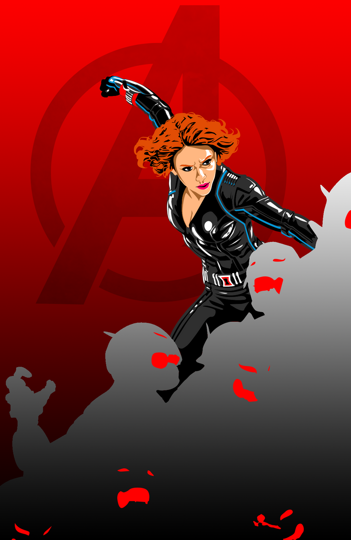 Avengers Age Of Ultron By Iloegbunam On Deviantart: Avengers: Age Of Ultron Black Widow Poster By Trevinoss97
