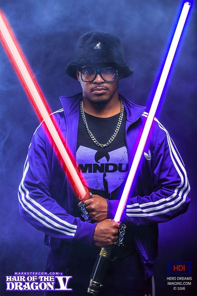 Jam Master Jedi w/ Dual Sabers by SmooveCosplaya