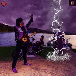 The Ninja... vs The Purple RAINger by SmooveCosplaya