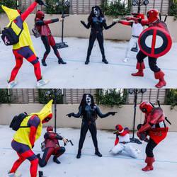 Domino vs Deadpools by SmooveCosplaya