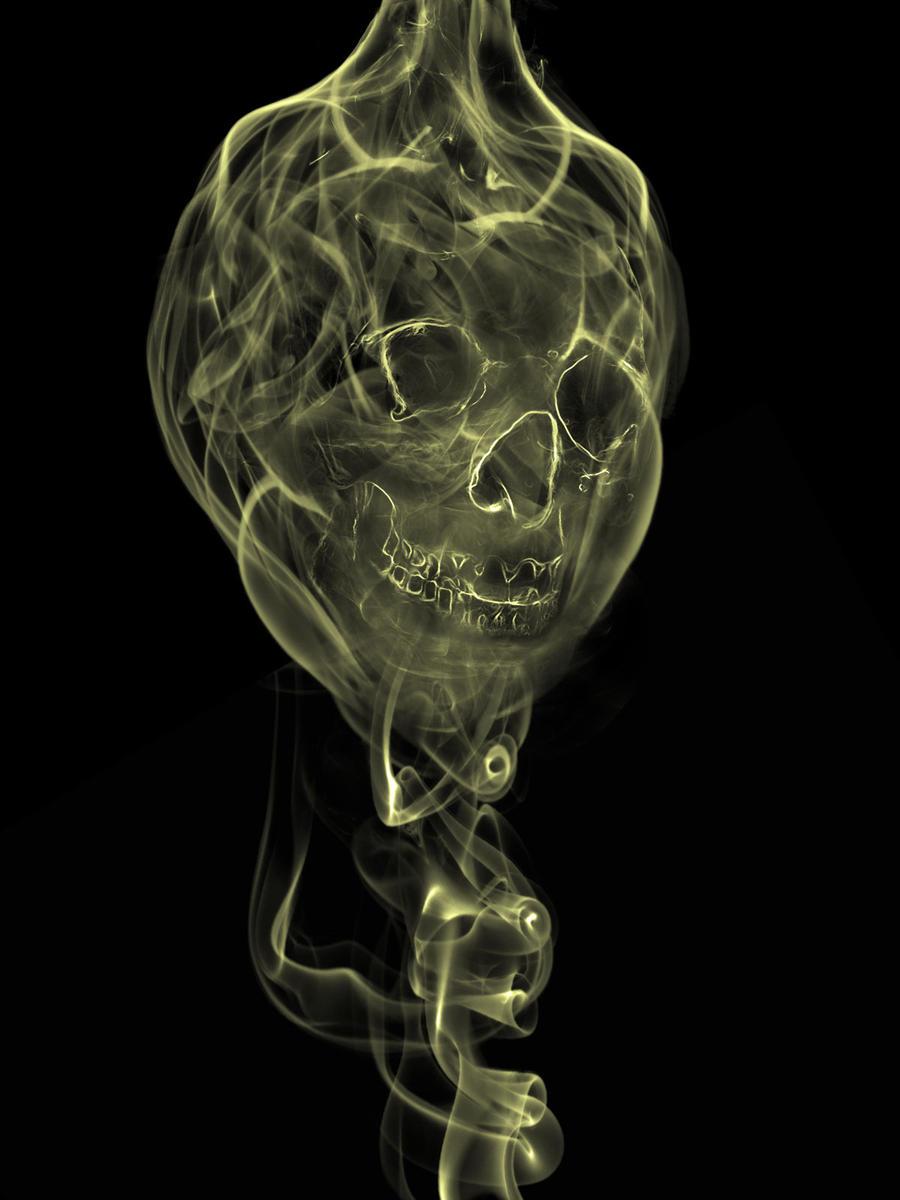 Smoke Skull by cabrion on deviantART