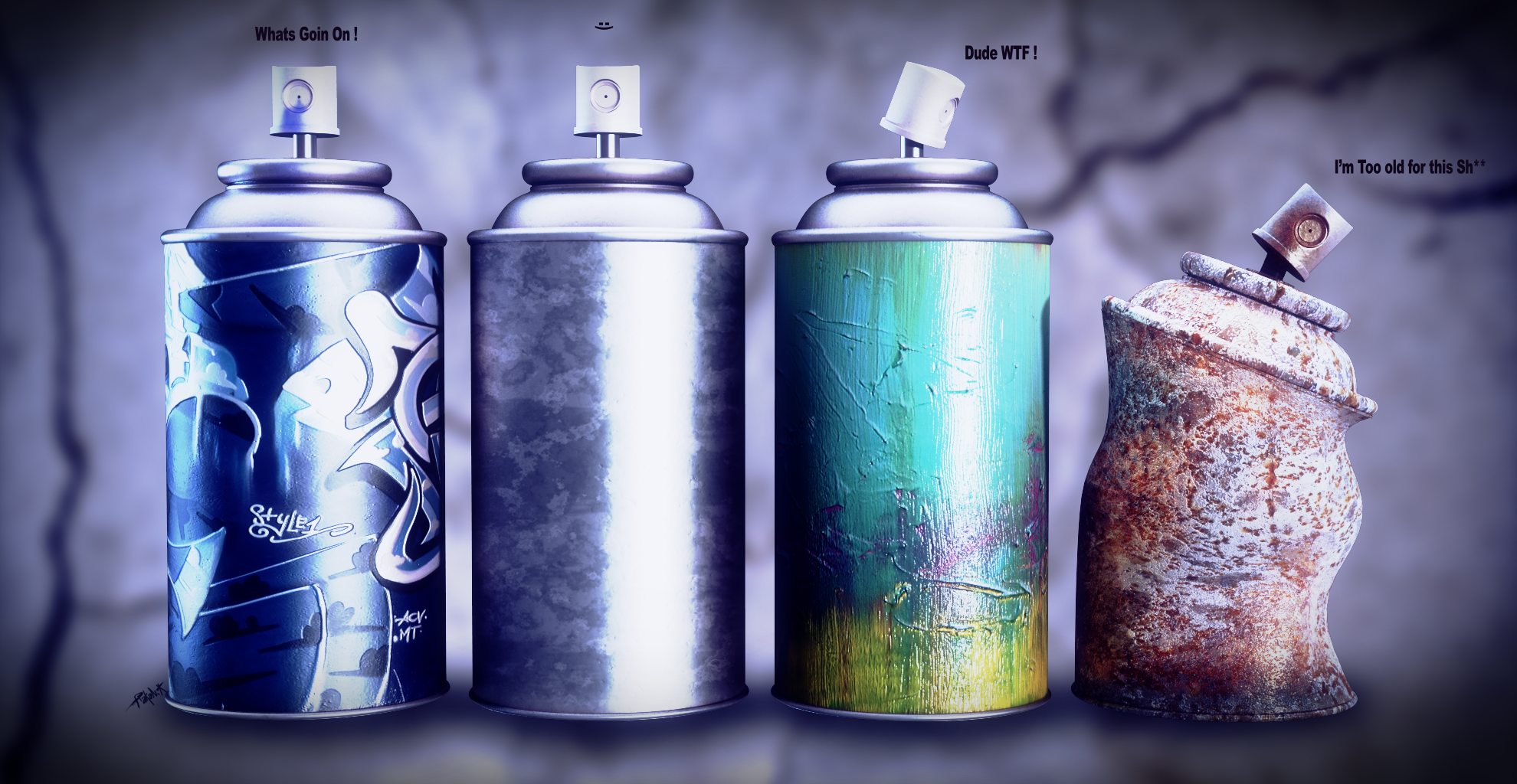 Spray cans by djreko on deviantart Paint with spray can