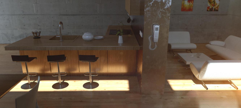 Kitchen Side View : Kitchen render side view by djreko on deviantart