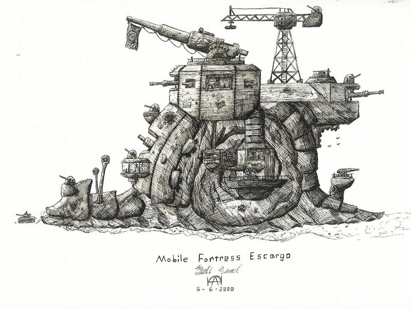 Mobile Fortress Escargo by TPSDude