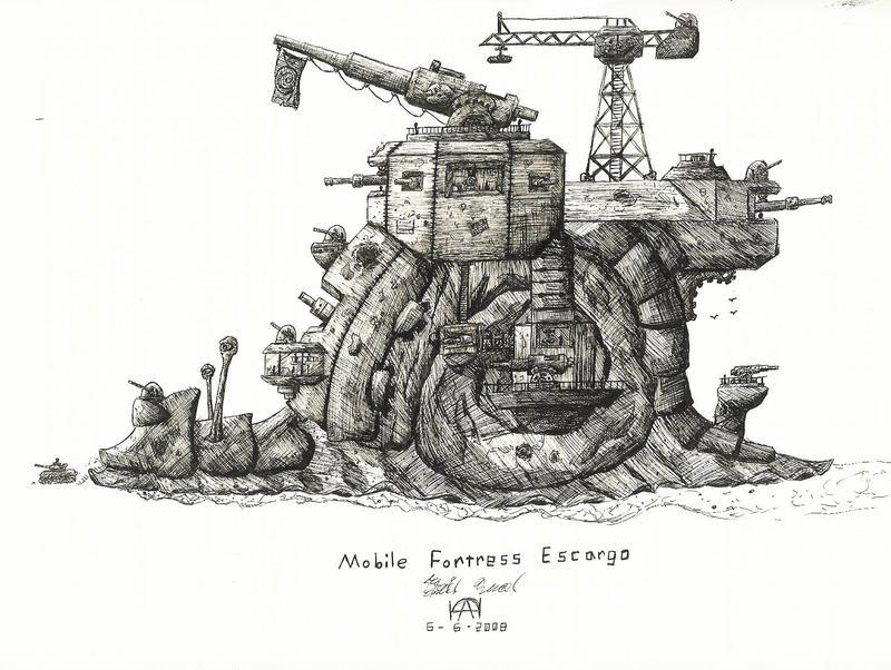 Mobile Fortress Escargo by TPSDude