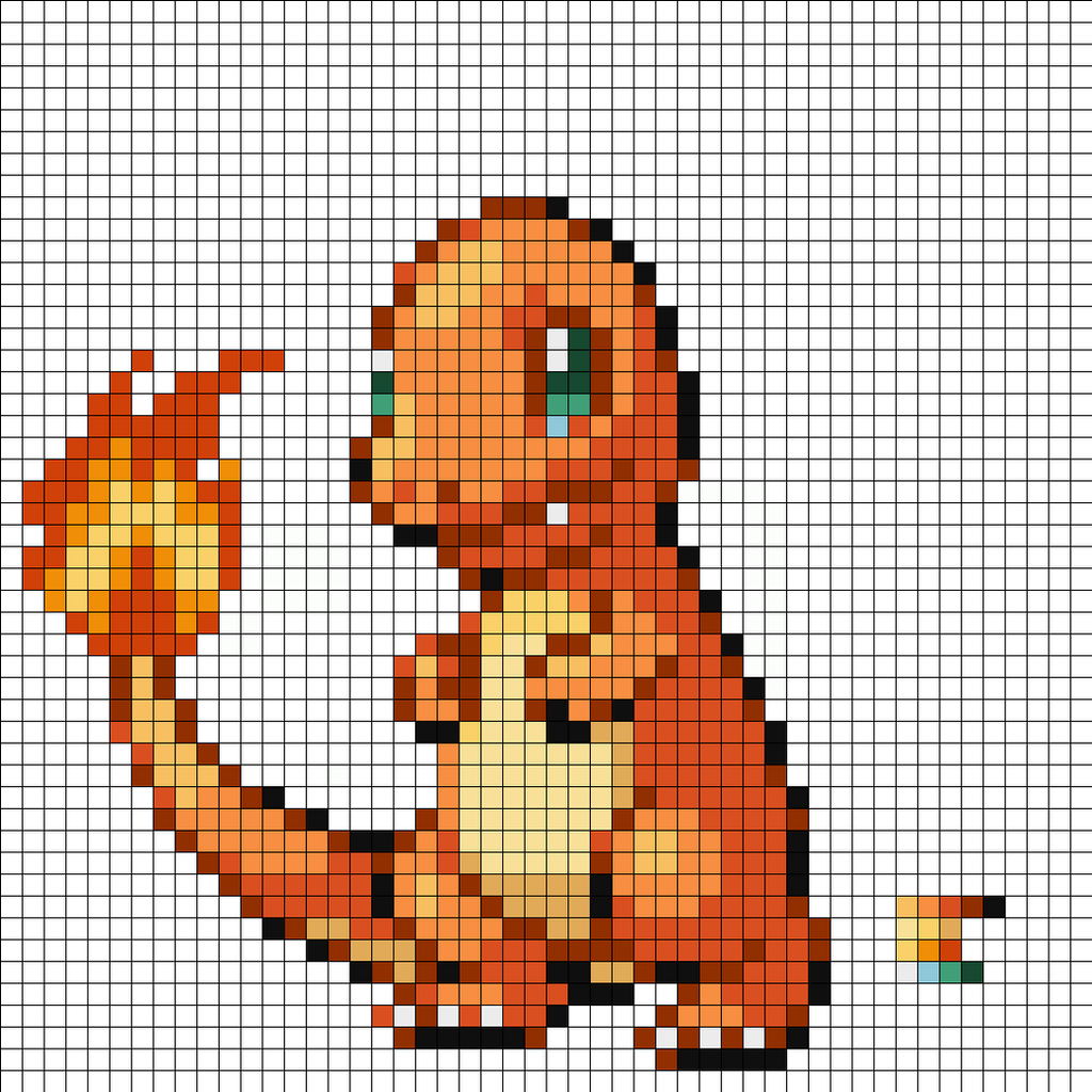 Charmander Pixel Art Template Charmander by superson...
