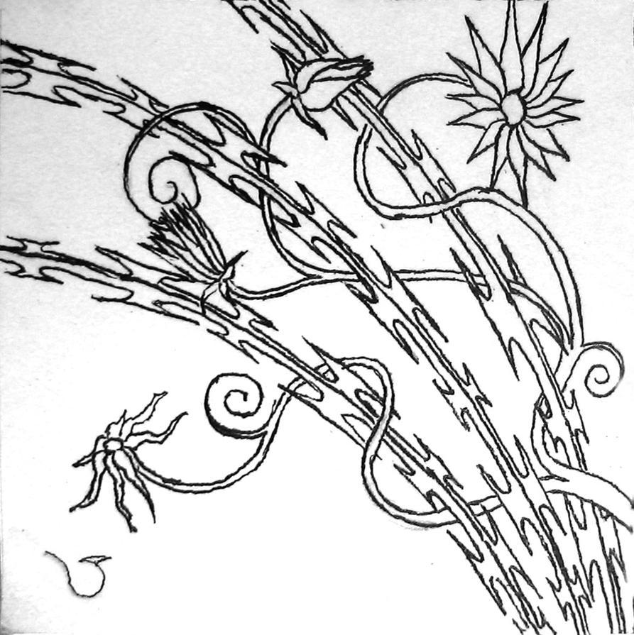Flowers on the Razor Wire by WrappedInRedVelvet on DeviantArt