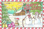 Holiday Card Project (Wrap Around Card) by DoubleDandE