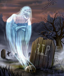 Ghostly Graveyard by DoubleDandE