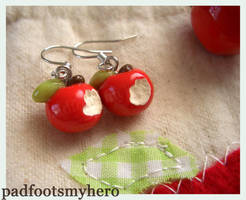 Apple Earrings by padfootsmyhero