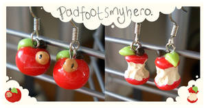 Apple Earrings v.2 by padfootsmyhero