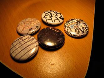 Button Pins by padfootsmyhero