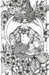 Mermaid - lineart