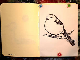 Inktober 26 - Long-tailed tit by CathM