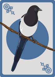 Magpie card by CathM