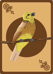 Yellowhammer card by CathM