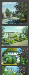 My Scenery Oil Paintings by jcevil