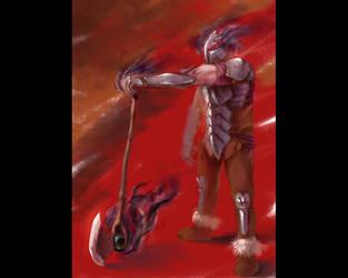 Demonic Axeman by jcevil