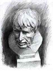 Pencil Sketch - Pirate Head? by jcevil