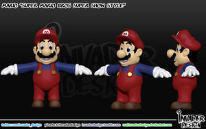 Cartoon Mario by realinvaderdesign