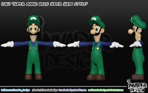 Cartoon (mama) Luigi by realinvaderdesign