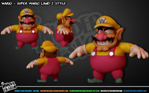 Wario Model by realinvaderdesign