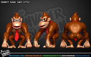 Donkey Kong snes style by realinvaderdesign