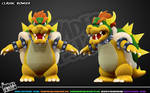 Classic Bowser- front and 3/4 view