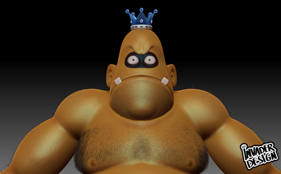 King Hippo w.i.p by realinvaderdesign