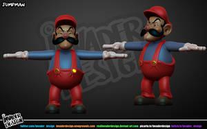 Jump Man Mario by realinvaderdesign
