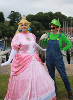 Princess Peach and Luigi