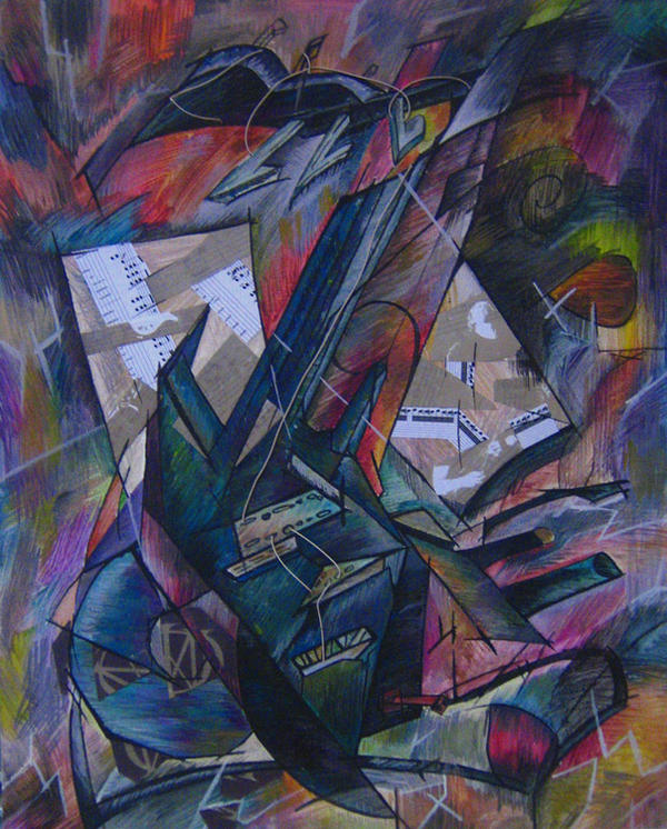 Kubistic Guitar by BlackWolfSiriuS