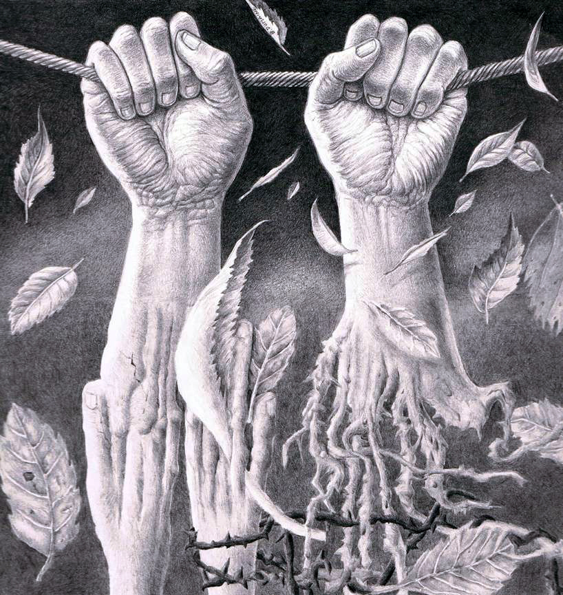 Tangled grip by Bernardumaine