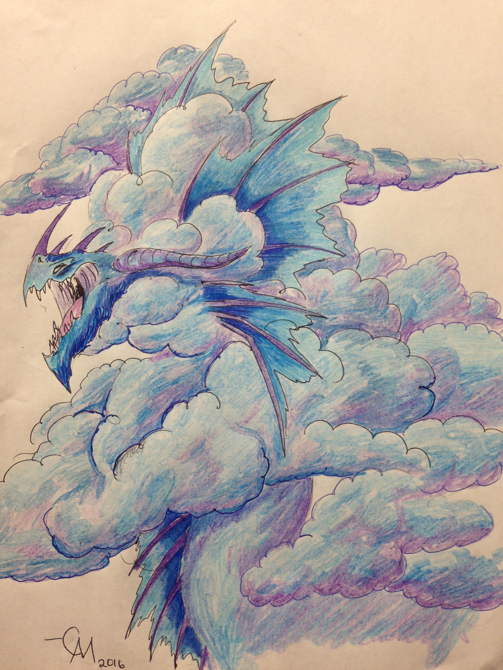 Bellowcloud Dragon by Labyrinth-Knights