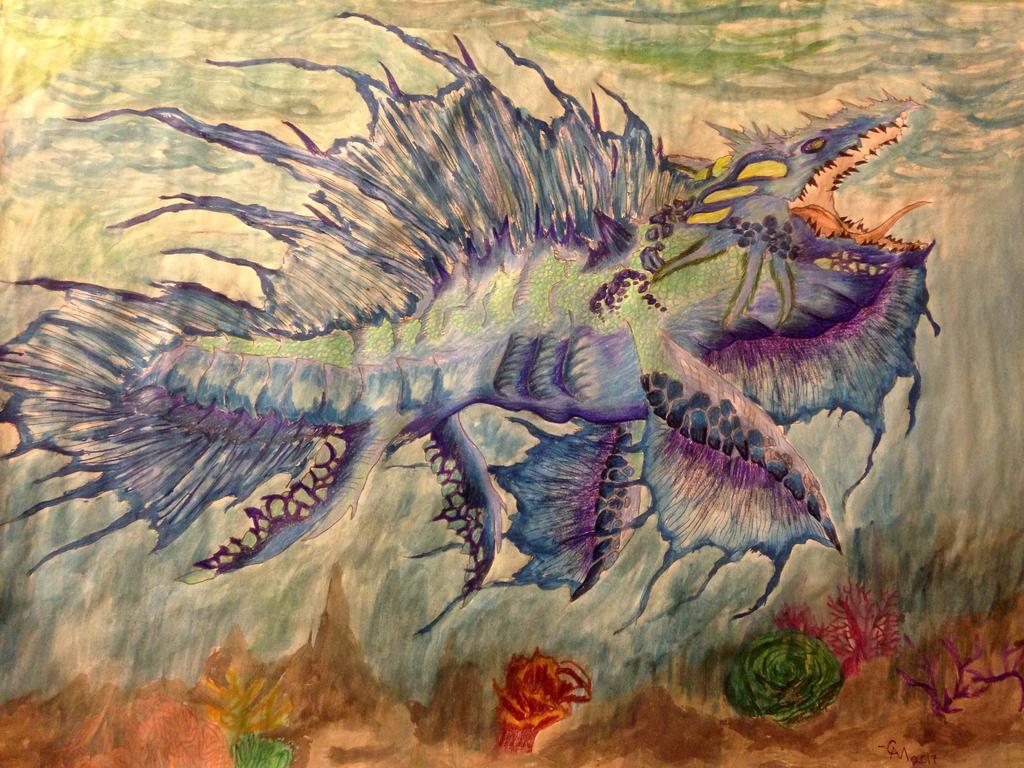 Spade Dragon by Labyrinth-Knights