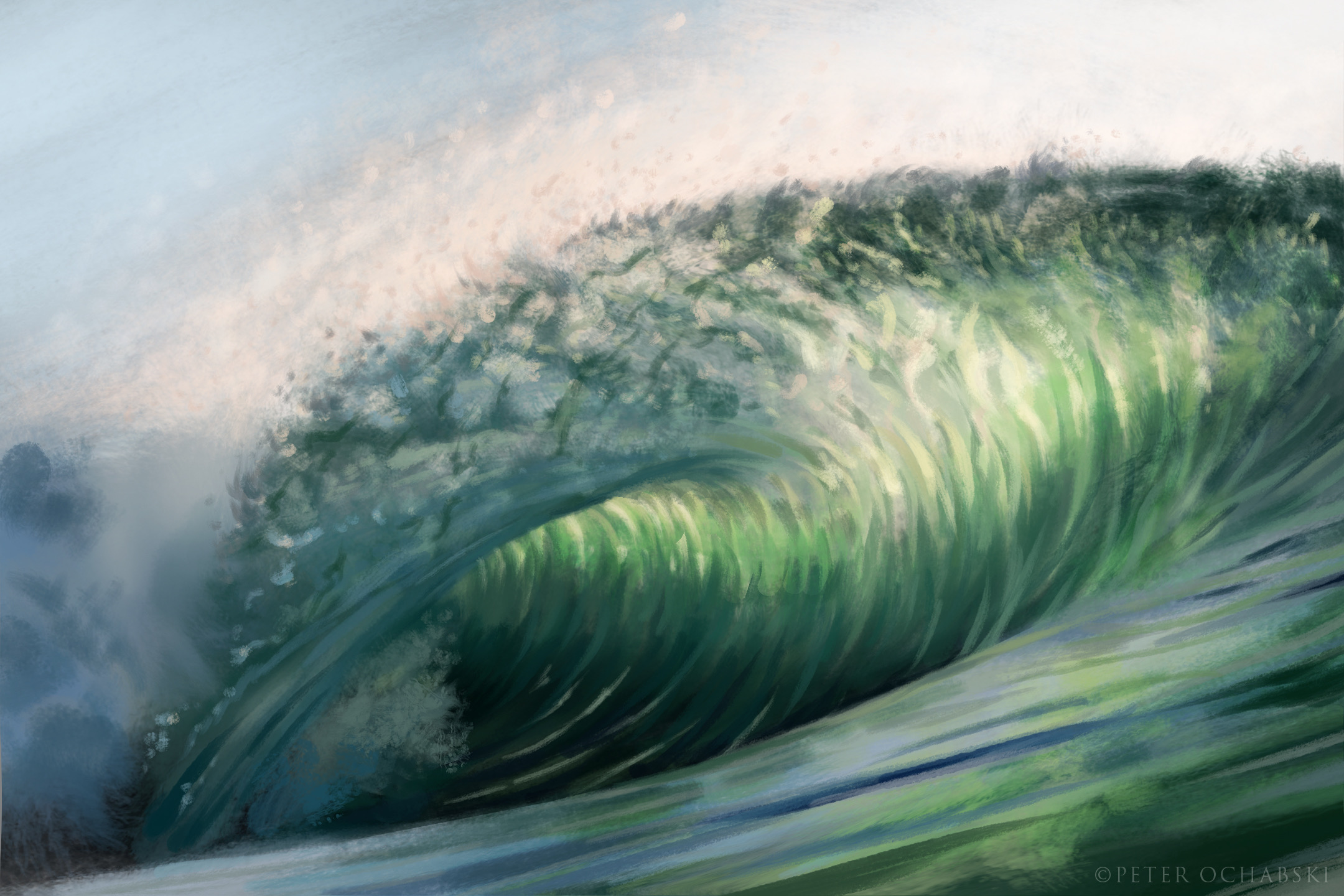 The blue green wave.