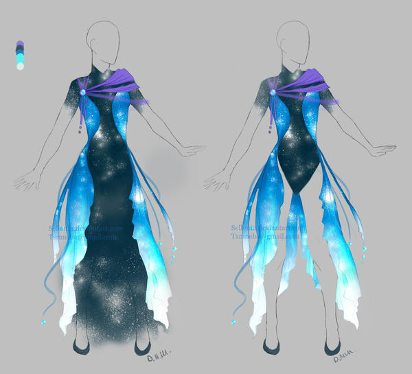 Outfit Adopt Galactic Dress Closed By Sellenin On Deviantart