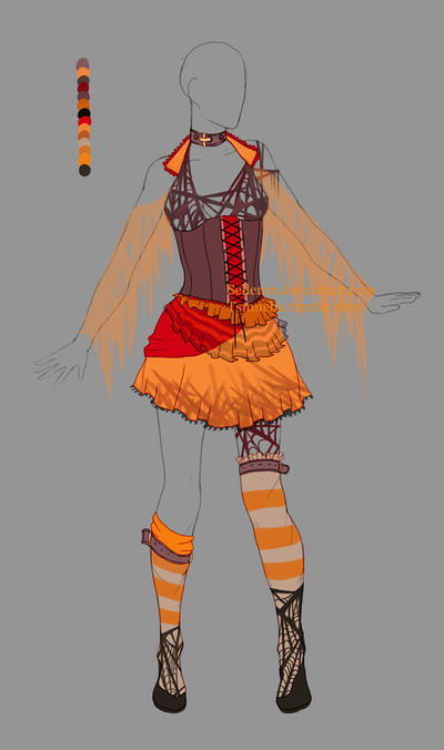 lovely anime fire outfit 9