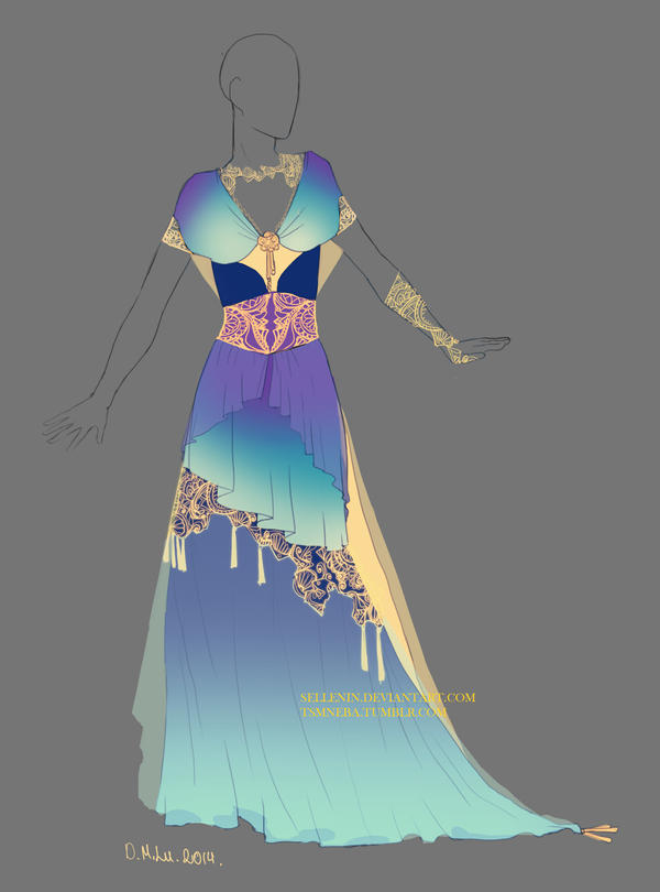 Dress adopt -16 - Closed by Sellenin