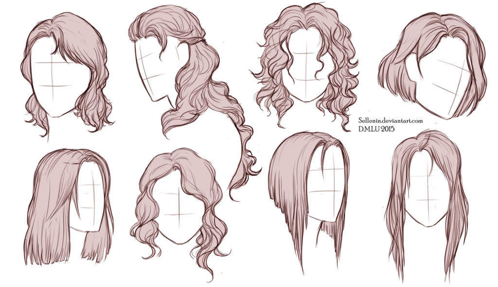 Character Design Hairstyles : Hairstyles by sellenin on deviantart