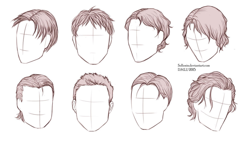 Male Hairstyles By Sellenin On DeviantArt