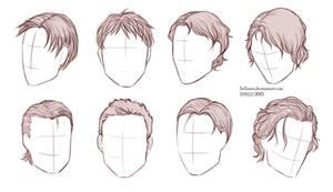 Male Hairstyles by Sellenin