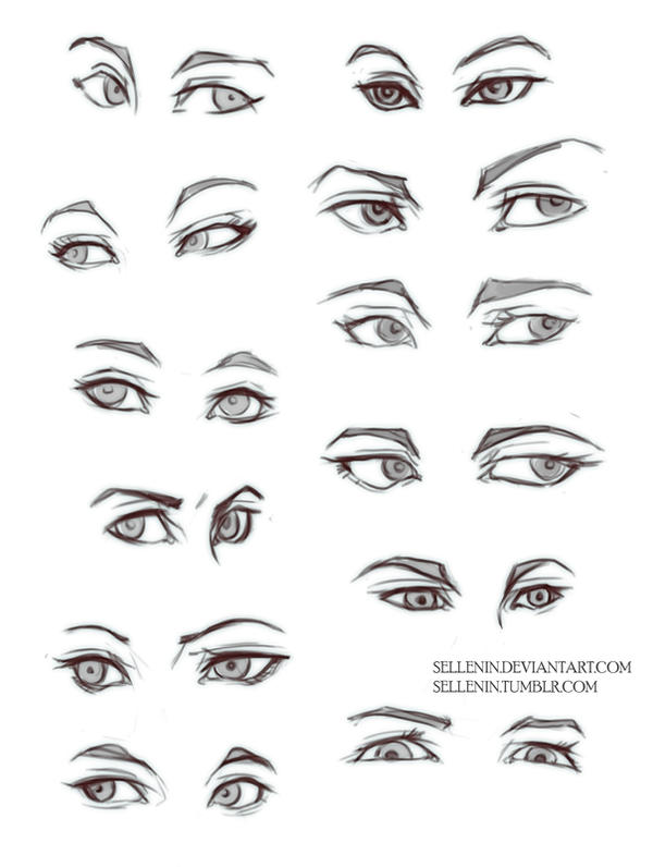 Eyes practice by sellenin on deviantart for Things to practice drawing