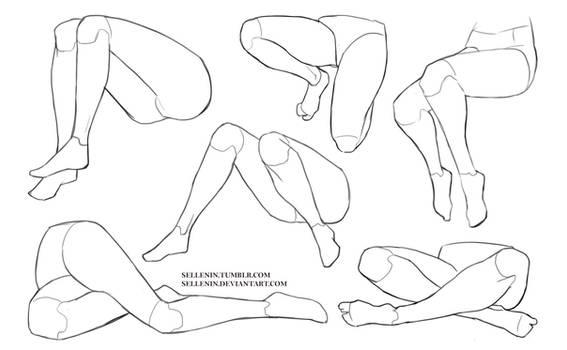 Legs sitting poses