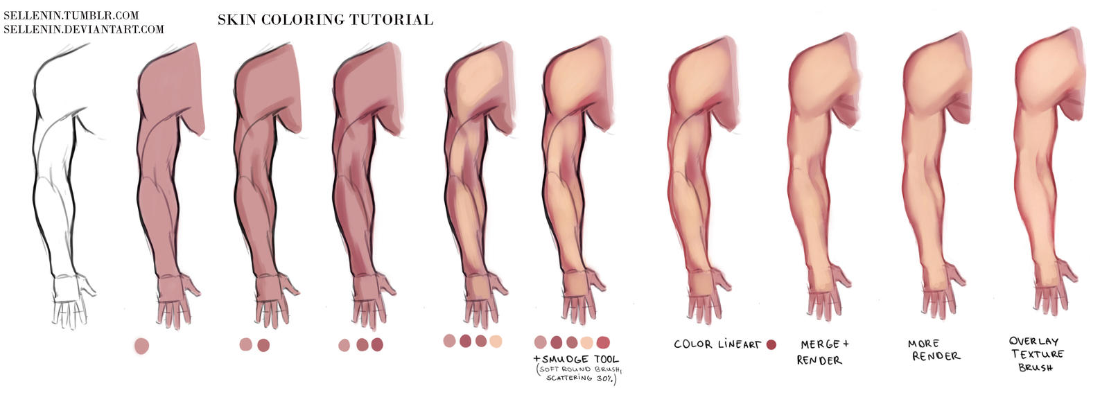 Skin coloring tutorial