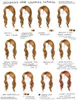 Hair coloring tutorial + video tutorial by Sellenin