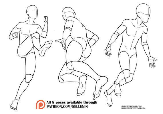 Poses set 5 - Male action poses